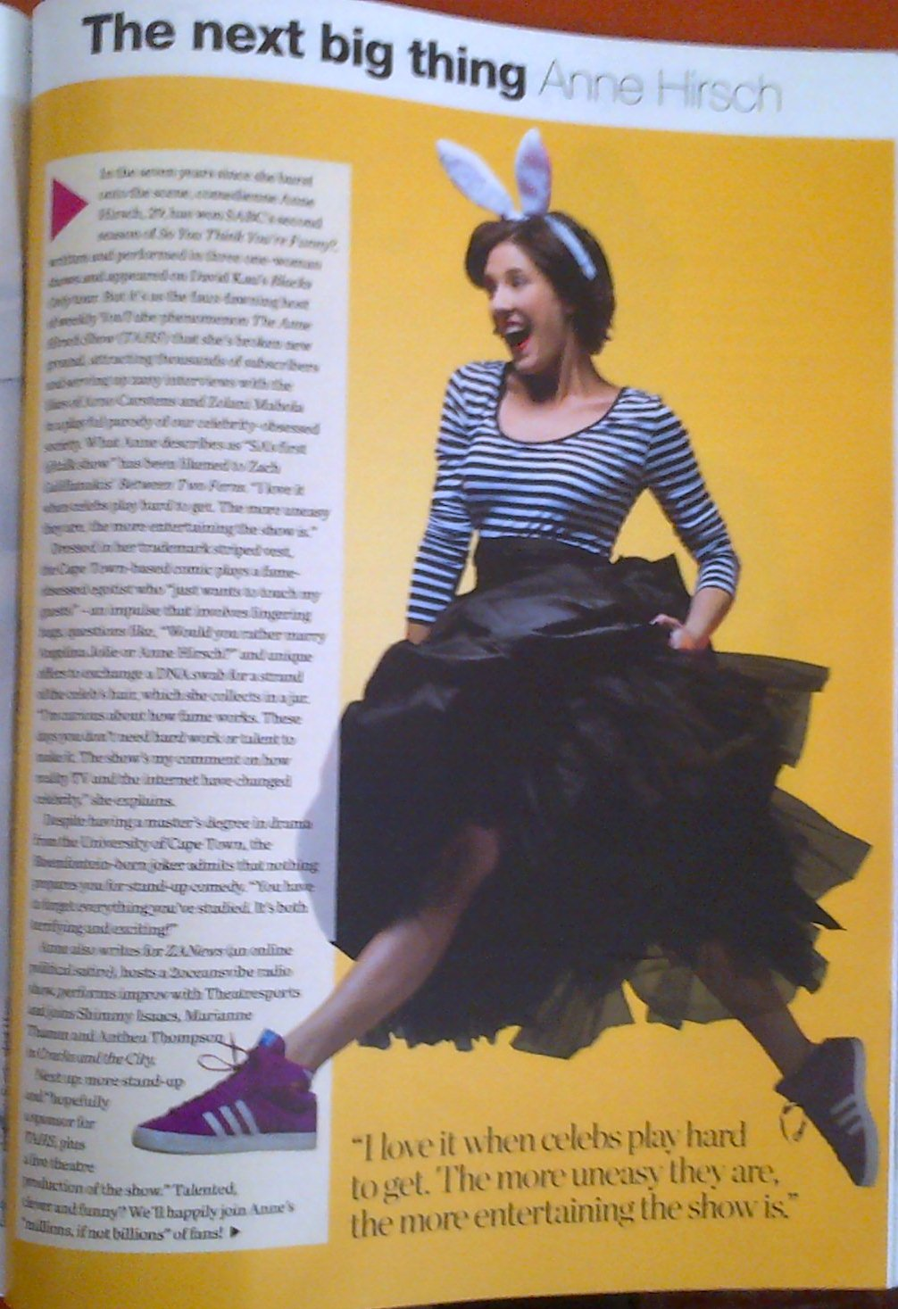The bit about me in Glamour Magazine