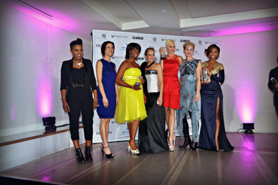 The Glamour Women of the Year Winners...that's me looking awks. Haha! Please note the heels! #Girly